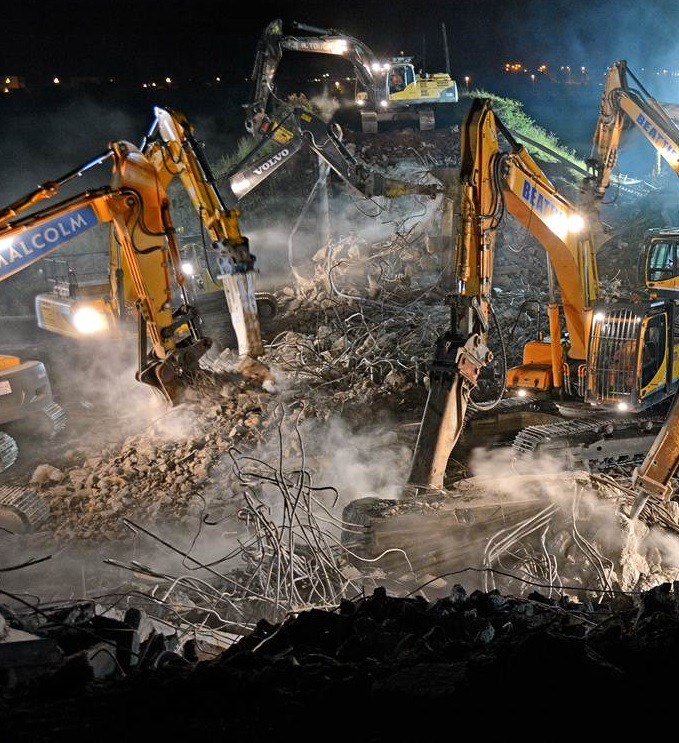 Image of the Week - BB Demolishes Bridge over M8